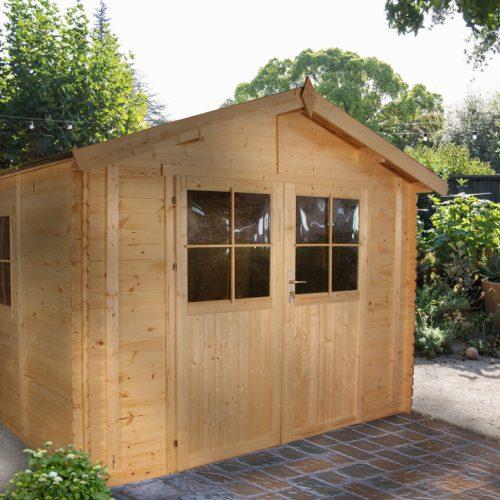 מחסן גינה עץ GARDEN TOP M375f מעץ מלא 316X318 1