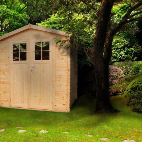 מחסן גינה עץ GARDEN TOP מעץ מלא 216X206 דגם M343